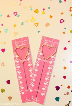 Cute DIY Heart Sparkler Valentines and Free Printable!