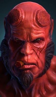 Marvel Dc Comics, Hero Marvel, Bd Comics, Marvel Vs, Hellboy Comics, Hellboy 1, Hellboy Movie, Comic Book Characters, Comic Character