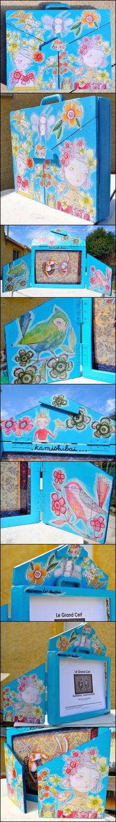 Personnalisation de mon Butaï pour mes Kamishibaï dans le cadre de mon métier d'assistante maternelle  par http://hellofannyscrap.com/