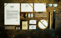 Wood Stationery & Branding Mockup - Designed by Kapor