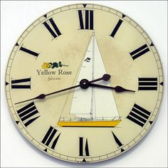 Give a Father's Day gift that reflects Dad's passion!  Does he love to sail?  Put his boat on a clock.