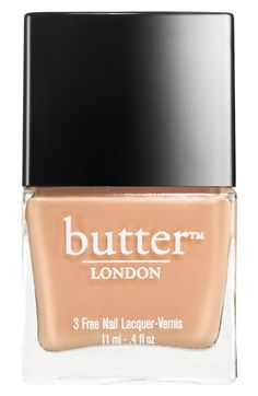 I'm trying to decide on what nail color will be my staple for 2015. I kinda dig this peach tone by Butter London available at @Nordstrom. What nail color will you be wearing in the New Year? #nordstrom.