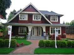 tudor style house | ... this tudor style new home is facing south on 75 x 127 5 level