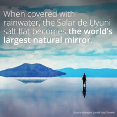 The World%u2019s Largest Natural Mirror
