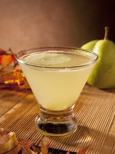 French Pear Martini - pear vodka, elderflower liqueur, and ginger ale