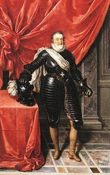 Although he was a man of kindness, compassion and good humor, and was much loved by his people, Henry was the subject of attempts on his life by Pierre Barrière in August 1593[36] and Jean Châtel in December 1594.[37]    King Henry IV was ultimately assassinated in Paris on 14 May 1610 by a Catholic fanatic, François Ravaillac, who stabbed the king to death in Rue de la Ferronnerie,