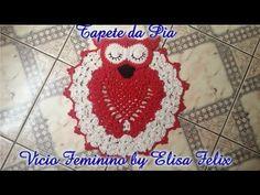 Jogo de banheiro coruja: Tapete da pia # Elisa Crochê - YouTube