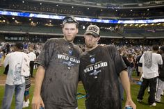 Corey Hart and J.J. Hardy, Wild Card Clinching Game September 28, 2008 #BREWERS