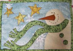 I love Snowman Quilt Doodle Pattern set. $24.00, via Etsy.