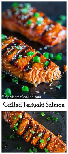 This grilled teriyaki salmon has the perfect balance of smoky and sweet.