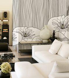 Wallpaper with Floral Pattern LOTUS by Wall&Decò @Jordan Bromley Waller&decò