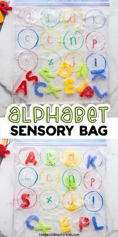 Alphabet Sensory Bag - such a fun way to do letter matching for kids! Perfect for preschool or kindergarten to learn letters. Preschool Learning Activities, Indoor Activities For Kids, Alphabet Activities, Literacy Activities, Toddler Preschool, Preschool Activities, Kinesthetic Learning, Preschool Class, Kindergarten Classroom