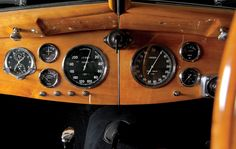Inside Ralph Lauren's Garage: Dashboard of a 1938 Bugatti Type 57SC Atlantic Coupe, photo by Todd Eberle for Vanity Fair.