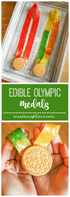Olympic Medals Whip up these Edible Olympic Medals for the Opening Ceremonies! via Whip up these Edible Olympic Medals for the Opening Ceremonies! Olympic Games For Kids, Olympic Idea, Winter Olympic Games, Winter Games, Edible Crafts, Vbs Crafts, Camping Crafts, Party Crafts, Kids Olympics