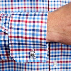 Shackelton Check Shirt - Double Cuff by Thomas Pink
