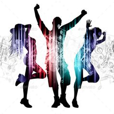 Buy Party People Background by kjpargeter on GraphicRiver. Silhouettes of people dancing with abstract effect. Creative Poster Design, Creative Posters, Graphic Design Art, Party Background, Background Ideas, Fun Party Themes, Ideas Party, Dance Images, People Dancing