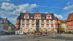 The pretty main square of #Coburg   #EnjoyGermanNature #GermanyChallenge #TandemChallenge