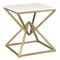 One Allium Way Hyacinthe End Table Marble End Tables, Metal End Tables, End Table Sets, End Tables With Storage, Steel Furniture, Home Decor Furniture, Table Furniture, Living Room Furniture, Rustic Furniture