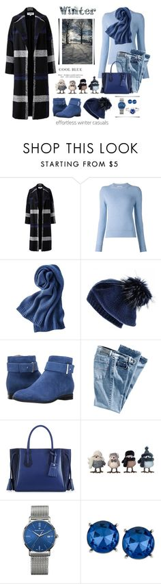 """Winter"" by terry-tlc ❤ liked on Polyvore featuring Helene Berman, Barrie, Uniqlo, Black, Nine West, Longchamp, Maurice Lacroix, Kenneth Cole and RenéSim"