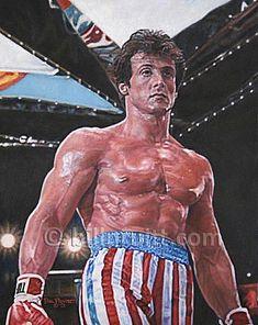 Sylvester Stallone Rocky Balboa Rocky 4 art print 12x16 signed and dated Bill Pruitt #RockyBalboa #Rocky4