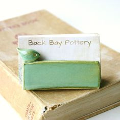 Little Bird Business Card Holder - Aqua Mist - French Country - Ready to Ship. $18.00, via Etsy.