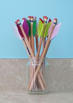 Arrow Pencil and Heart Pocket Valentine Tutorial - Trend Girls Party 2019 Vbs Crafts, Camping Crafts, Crafts For Kids, Medieval Crafts, Medieval Party, Medieval Games, Archery Party, Hunger Games Party, Hunger Games Crafts