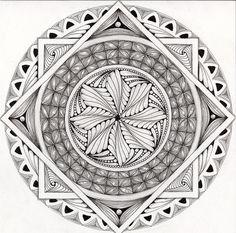Zentangle Mandala | zentangle - circles & mandalas - a gallery on Flickr