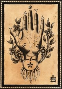 5e49f019bc3ee9120611714e9d3d2172 Hand Symbols, Symbol Hand, Alchemy Tattoo, Alchemy Art, Alchemy Symbols, Tarot, Fortune Teller, Wicca, Arte Medieval
