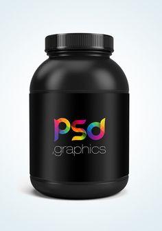 Free Protein Jar Mockup Free PSD