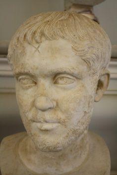 A marble bust of Roman emperor Hostilian, r. 253 CE. (The Vatican Museums, Rome).
