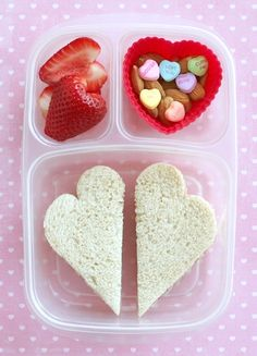 valentines day lunch (lots of hearts) valentine's day kids-school-lunches