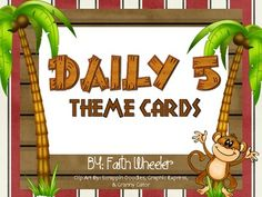 This packet was created to use with Daily 5/CAFE.  The theme is monkeys.  It aligns with the monkey CAFE cards that I created.  If you are looking for a specific theme, check me out on Teachers Pay Teachers :)