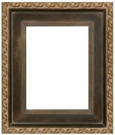 Conlin Dark Brown and Gold Flat Panel Frame