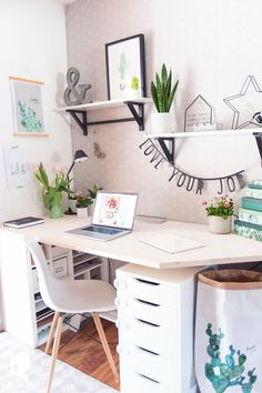 Spring in the home office - my new desk relleomein.de - Spring in the home office – my new desk relleomein.de Spring in the home office – my new desk r -