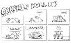 Garfield también se apunta a pilates... o al menos lo intenta ;-)