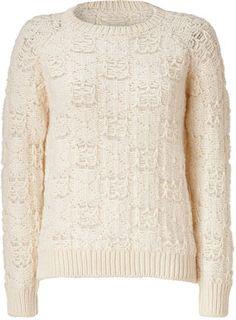 ShopStyle: Iro Ecru/White Merino Wool Maya Pullover