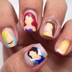 Can you believe these hand-painted princesses?