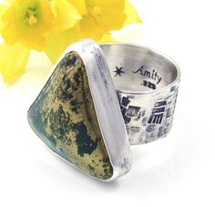 Pyrite Ring  Sterling Silver Apache Gold ring  by AmityJewelry