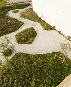 omgeving Ecopuur (Nevele, Belgium) by BurO Groen Landscape Architecture Design, Garden Landscape Design, Sustainable Architecture, Urban Landscape, Classical Architecture, Ancient Architecture, Fence Landscaping, Landscaping Software, Modern Landscaping