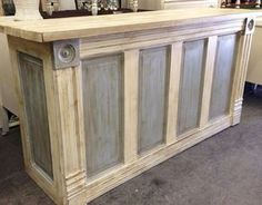 Bar made from a door