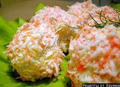 Салат рафаэлло с крабовыми палочками и сыром