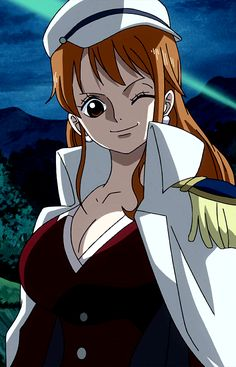 Nami with marine/navy outfit One Piece Manga, Sabo One Piece, One Piece Nami, Black Butler, Tokyo Ghoul, Fairy Tail, Nami Swan, One Piece Images, Babe