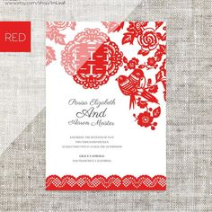 48 Best Chinese Wedding Invitation Images On Pinterest Vectors