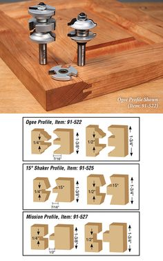 Rail & Stile Router Bits for Entry & Passage Doors | Carbide Router Bits
