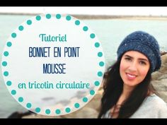 Tricoter Bonnet en point mousse en tricotin circulaire/rond - YouTube