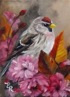 "Daily Paintworks - ""Plum Blossom Cozy"" - Original Fine Art for Sale - © Paulie Rollins"