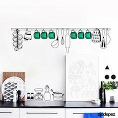 Home 031 | Objetos de cocina con apliques — ojodepez | vinilos decorativos