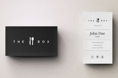 Chef Minimal Logo and Business Card by Editeur Plus on @creativemarket