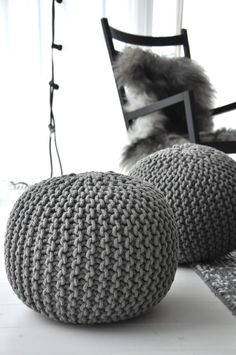 = knitted pouffe. I really want one of these, they only sell them in Next at the moment and the colour isnt the best. I figured you and Matt would like this though!