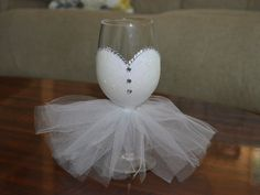 This custom bridal wine glasses (12 oz) is sure to make any bride to be feel special. This will make a great bridal shower or engagement gift. Or use it at your rehearsal dinner or wedding reception. Need this by a certain date? - Please confirm with the processing and shipping time before ordering. If you notice that the time line does not meet your needs please message me about rush orders for an additional cost. Bride Wine Glasses: -Request either pearls or rhinestones Sending this as a…
